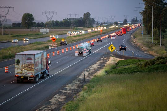 Drivers merging into the northbound lanes of Interstate 5 from Brooks face delays from an Oregon Department of Transportation paving project, part of $5.3 billion worth of roadwork the Legislature approved in 2017.