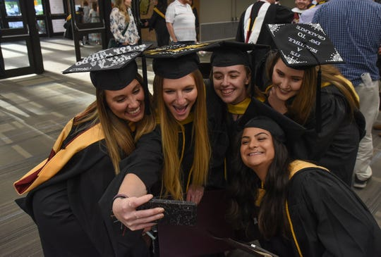 Some 249 students received master's and doctoral degrees during Salisbury University's graduate ceremony on Wednesday, May 22.