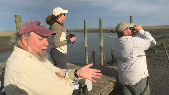 Barry Truitt, retired chief conservation scientist with The Nature Conservancy, speaks about whimbrels during a bird count in Machipongo, Virginia on Wednesday, May 22, 2019.