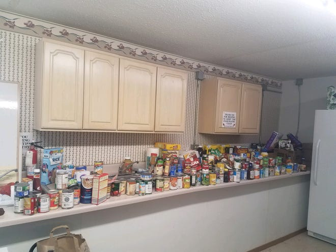 A recent food drive by the United States Postal Service helped fill the Daily Bread Food Pantry in Dell Rapids.