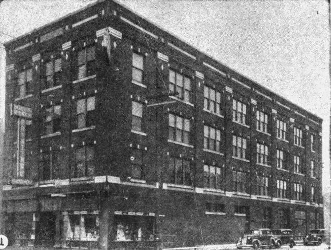 The Will A. Beach Printing Company at Phillips and Seventh in Sioux Falls in 1927.