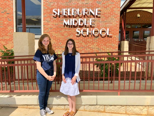 Shelburne Middle School students Kendal Brown and Valerie Noto are Staunton's first team to qualify for the National History Day competition at the University of Maryland.