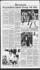 Waynesboro claimed a state title over Lee High in University Hall in 1991.