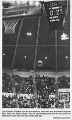 "A photo that appeared in the March 7, 1971 News-Leader shows Tom ""Mouse"" Patterson shooting the game-winning free throw in the Northwest Regional final."