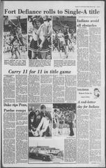 Fort Defiance's 1980 state championship on the front of the sports section.