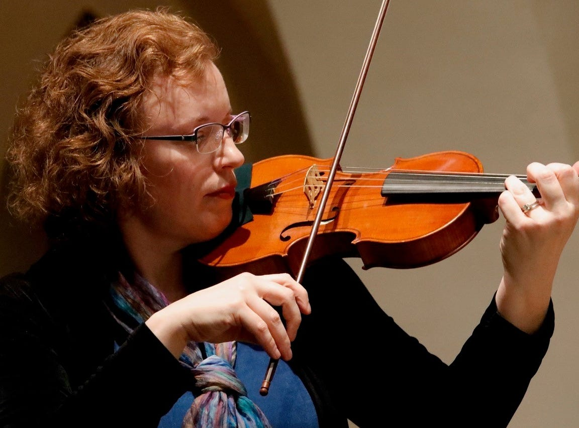 For Bach Parley violinist, concert 'about being able to bring people together'