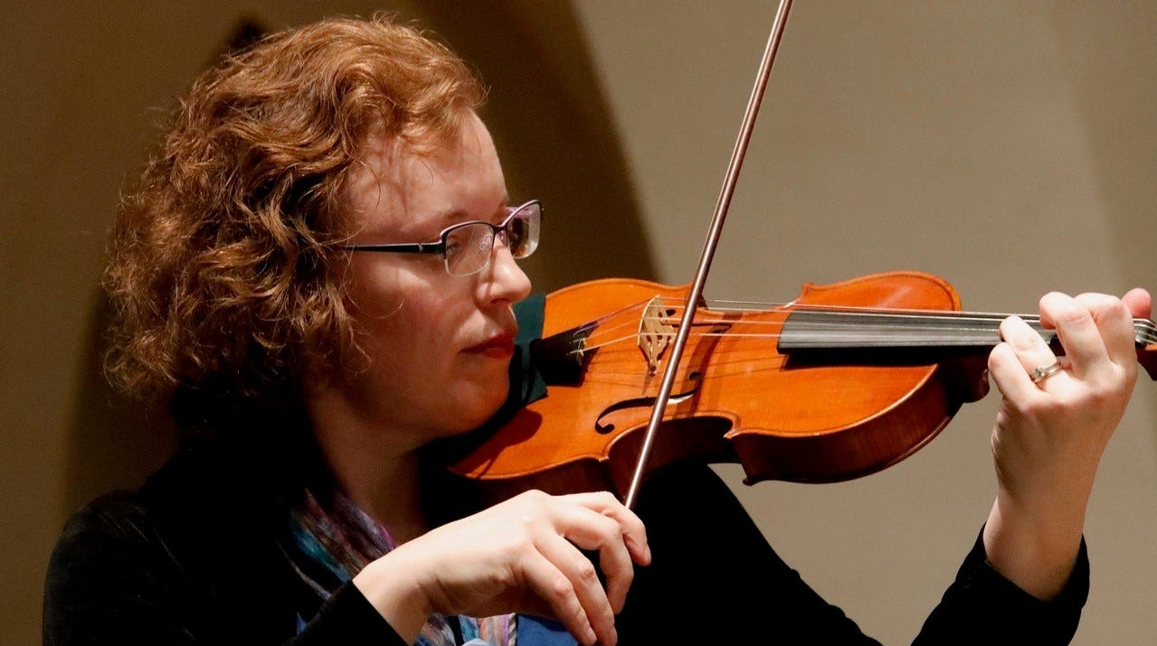 Valeria Arsenault performs with the Tallahassee Bach Parley.