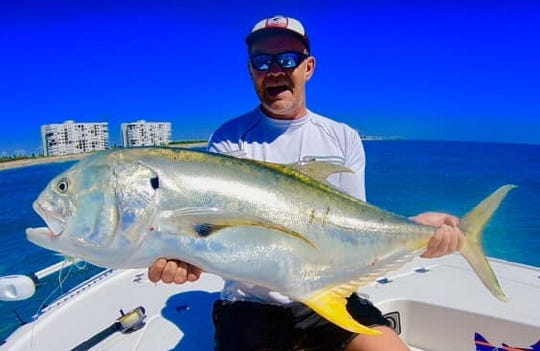 Eckhard Johanning of Münster, Germany released this massive jack crevalle off Hutchinson Island after catching it this week on a 7/0 popper fly using 60-pound leader.
