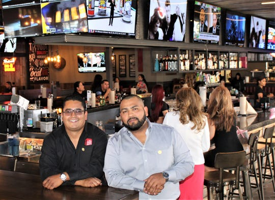 Brothers Adrian Soto, left, and Mike Soto inside the newest location of their The Shack Wings & Brews at 9120 Viscount in East El Paso.