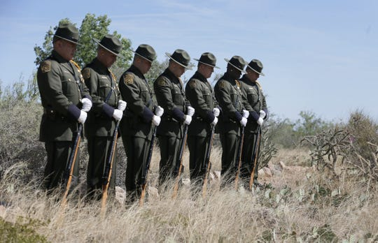 The U.S. Border Patrol honors fallen agents at the 2019 annual memorial at the U.S. Border Patrol Museum in Northeast El Paso. The names of 128 fallen agents were read during the ceremony.