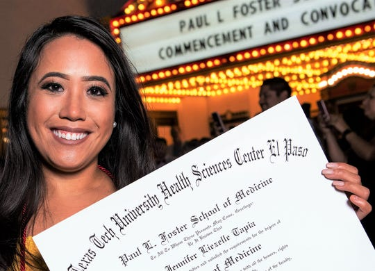 Jennifer Tapia, graduated from Texas Tech's Paul L. Foster School of Medicine in El Paso, May 17.
