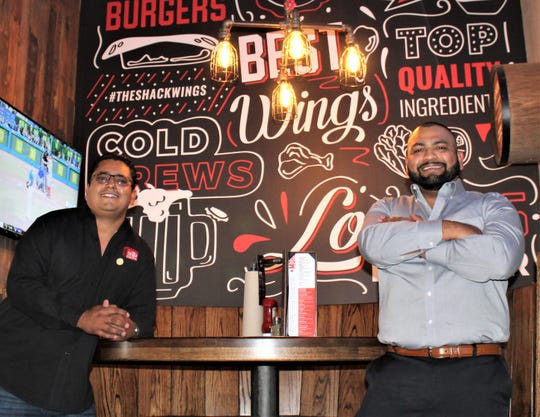 Brothers Adrian Soto, left, and Mike Soto at their new The Shack Wings & Brews restaurant at 9120 Viscount Blvd., in East El Paso.