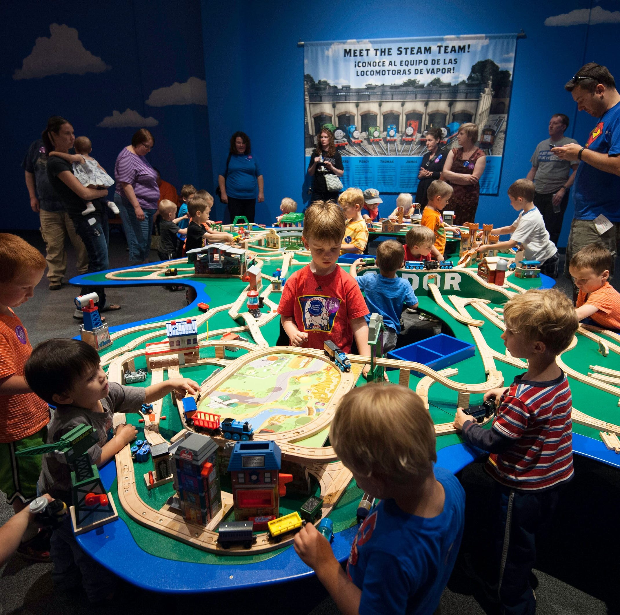 Thomas and Friends arrive at the Upcountry History Museum