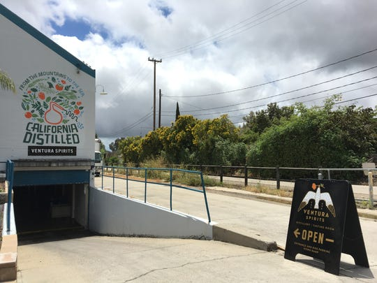 The Ventura Spirits distillery and tasting room is located in a subterranean space between Ventura Avenue and the bike path that links Ventura with the Ojai Valley.