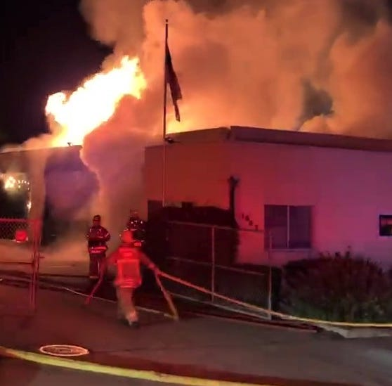 Fire heavily damages Ventura auto repair shop