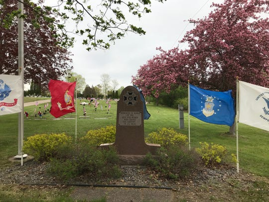 On May 20, members of Veterans of Foreign Wars Post 2534 in Wisconsin Rapids placed about 2,000 flags at veterans' gravesites in Forest Hill, Calvary, Restlawn, Pioneer, and Green Hill cemeteries in advance of Memorial Day.