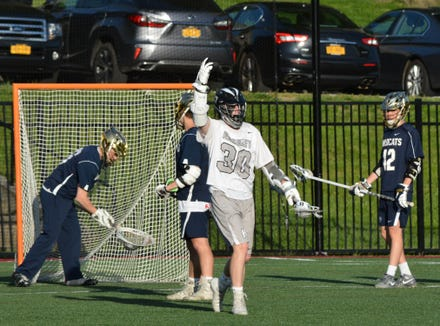 Charlie Hite jump-started Hackley, which erased a six-goal deficit and posted a 12-10 win over Rye Country Day School in the NYSAIS championship game at Manhattanville College on Wednesday, May 22, 2019.