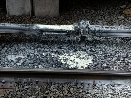 A fire damaged the third rail at the Croton-Harmon train station on May 23, 2019.