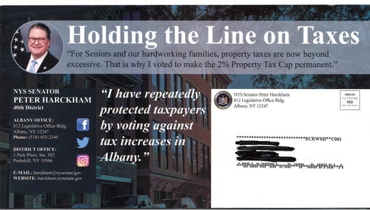 State Sen. Peter Harckham's taxpayer-financed mailer looked more like a campaign brochure than a constiuent newsletter.