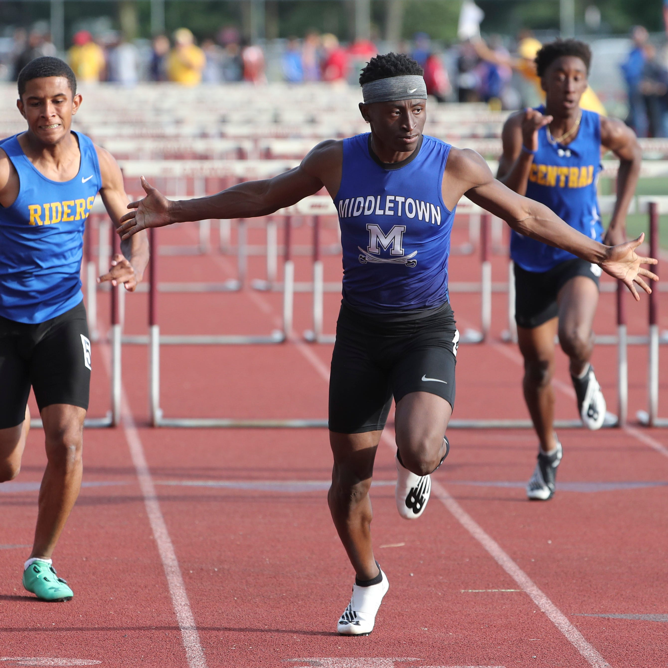 Middletown's Brahmir Vick sets a state record in...