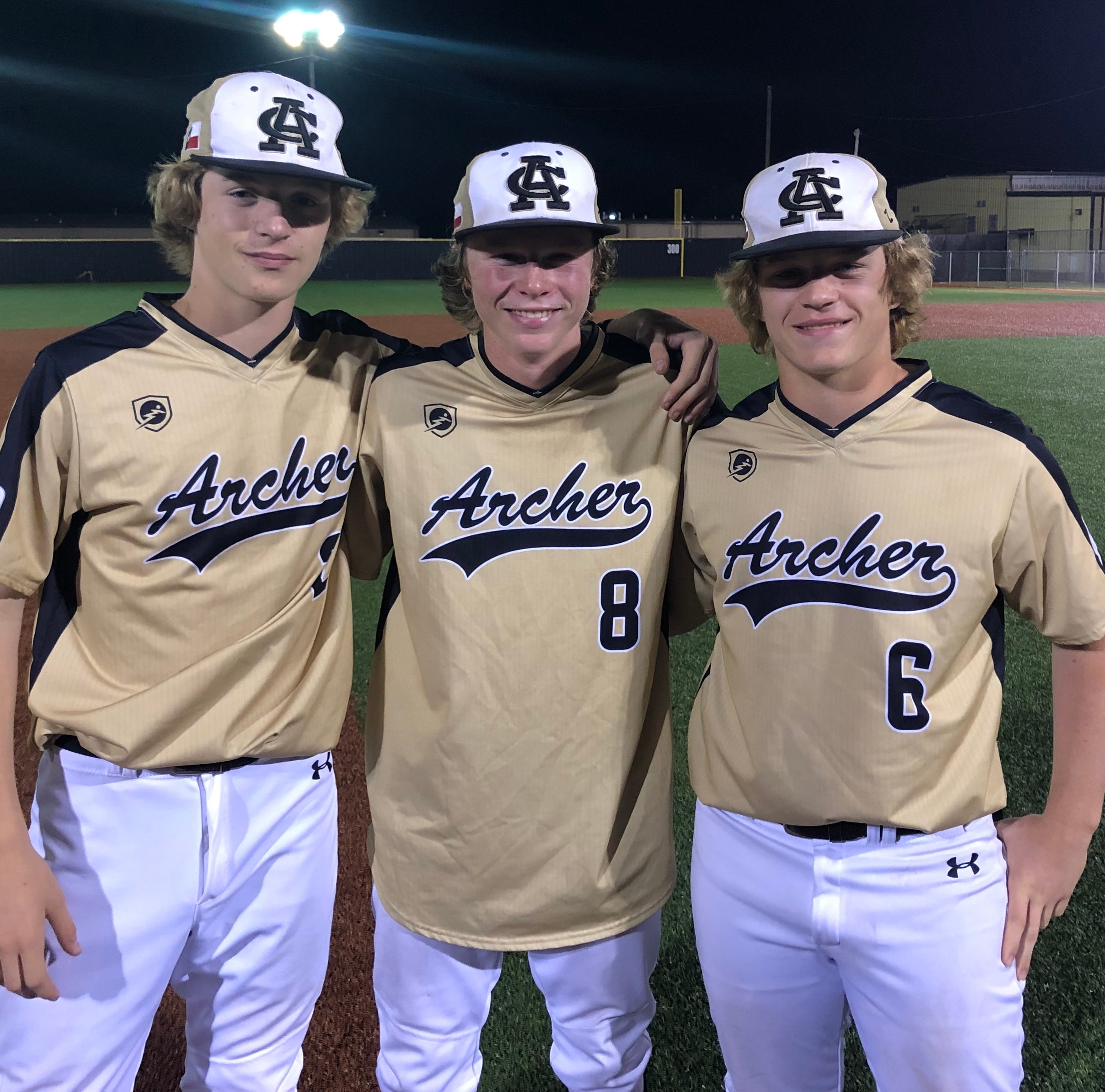 Three Archer City brothers enjoying high school playoff baseball run