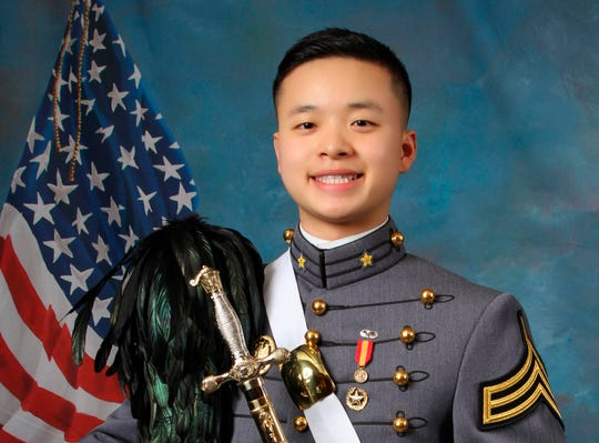 USMA cadet Peter L. Zhu in an undated photo by the United States Military Academy at West Point, N.Y.,