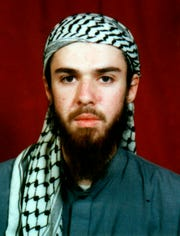 American John Walker Lindh is seen in this undated file photo obtained in January 2002, from a religious school in Bannu, Pakistan, where he studied for five months. Lindh, the young Californian who became known as the American Taliban after he was captured by U.S. forces in the invasion of Afghanistan in late 2001, was freed in May 2019 after nearly two decades in prison.