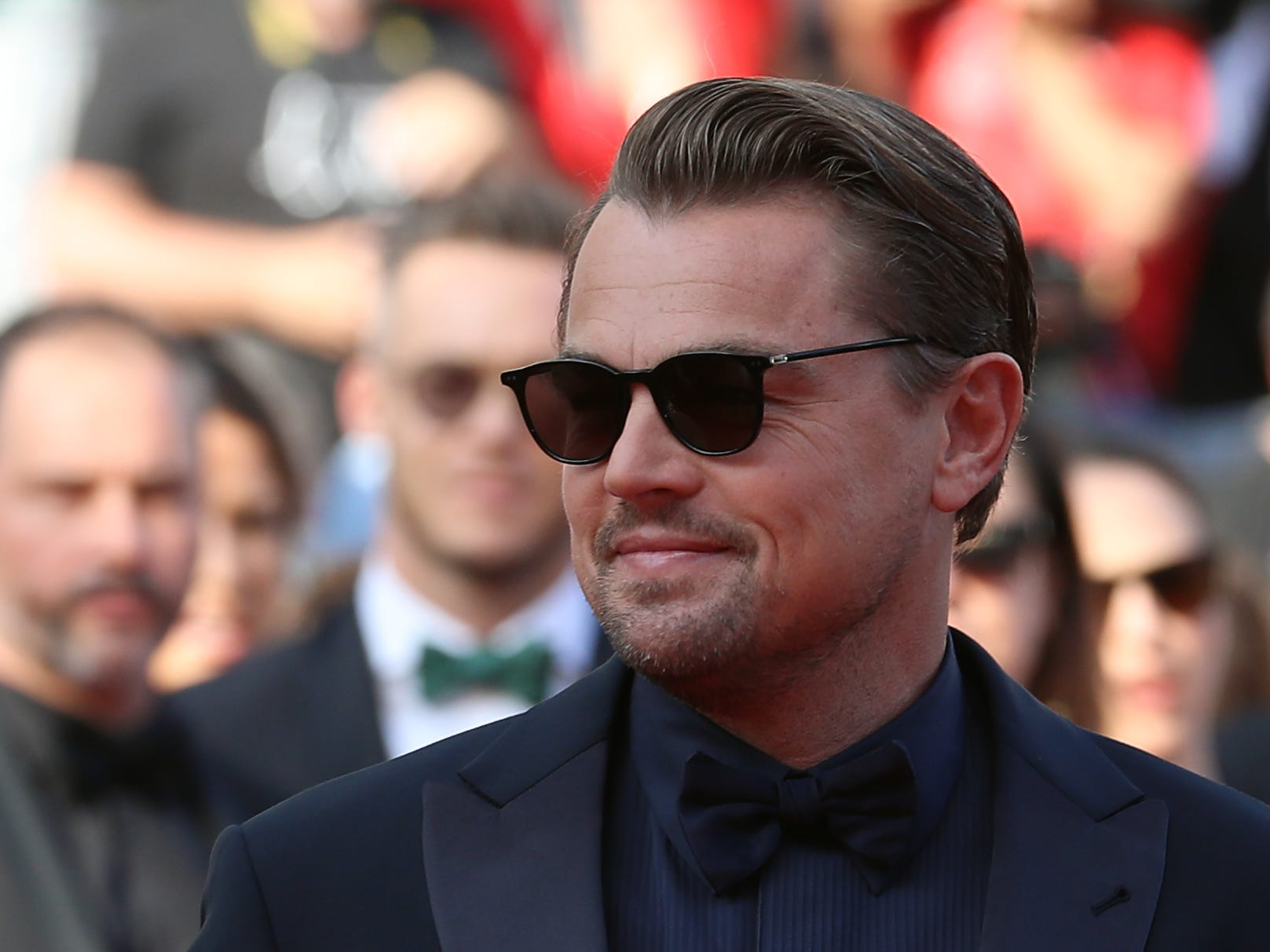 """Actor Leonardo DiCaprio arrives for the screening of the film """"The Traitor (Il Traditore)"""" at the 72nd edition of the Cannes Film Festival in Cannes, southern France, on May 23, 2019."""