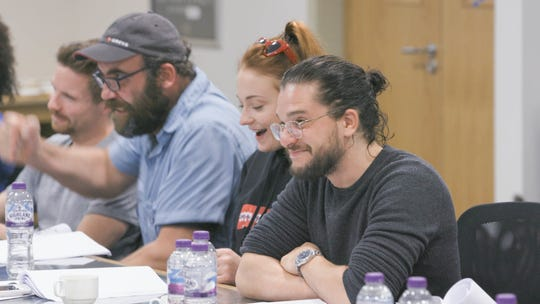 "Kit Harington didn't know the destiny of his ""Game of Thrones"" character, Jon Snow, until the first table reading for Season 8."
