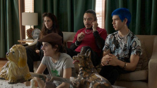 """Cassandra Ciangherotti, left, Ana Fabrega, Bernardo Velasco and Julio Torres play misfits who get paid to scare people in HBO's """"Los Espookys."""" (Photo: HBO)"""