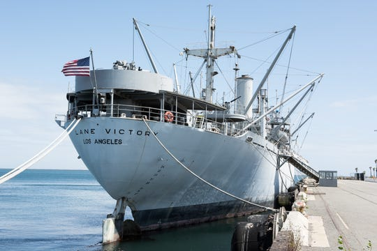The S.S. Lane Victory is docked at the Port of Los Angeles and is just one of three remaining Victory ships in the world.