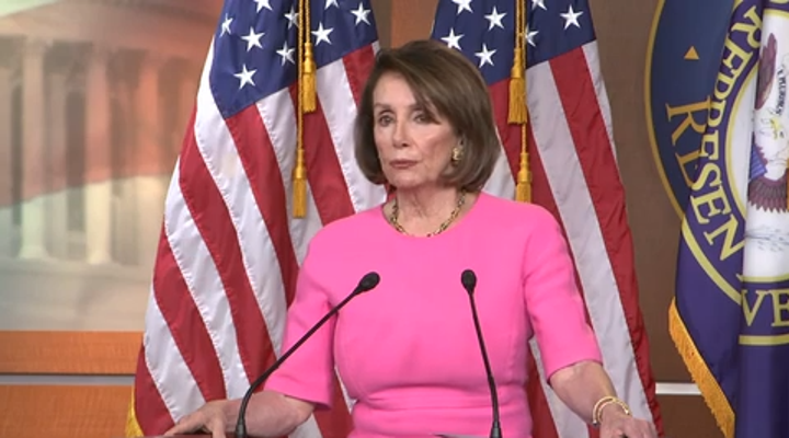 House Speaker Nancy Pelosi openly questioned President Donald Trump's fitness for office Thursday. At one point she even joked about the 25th Amendment, the Constitution's provision laying out the procedure for replacing a president. (May 23)