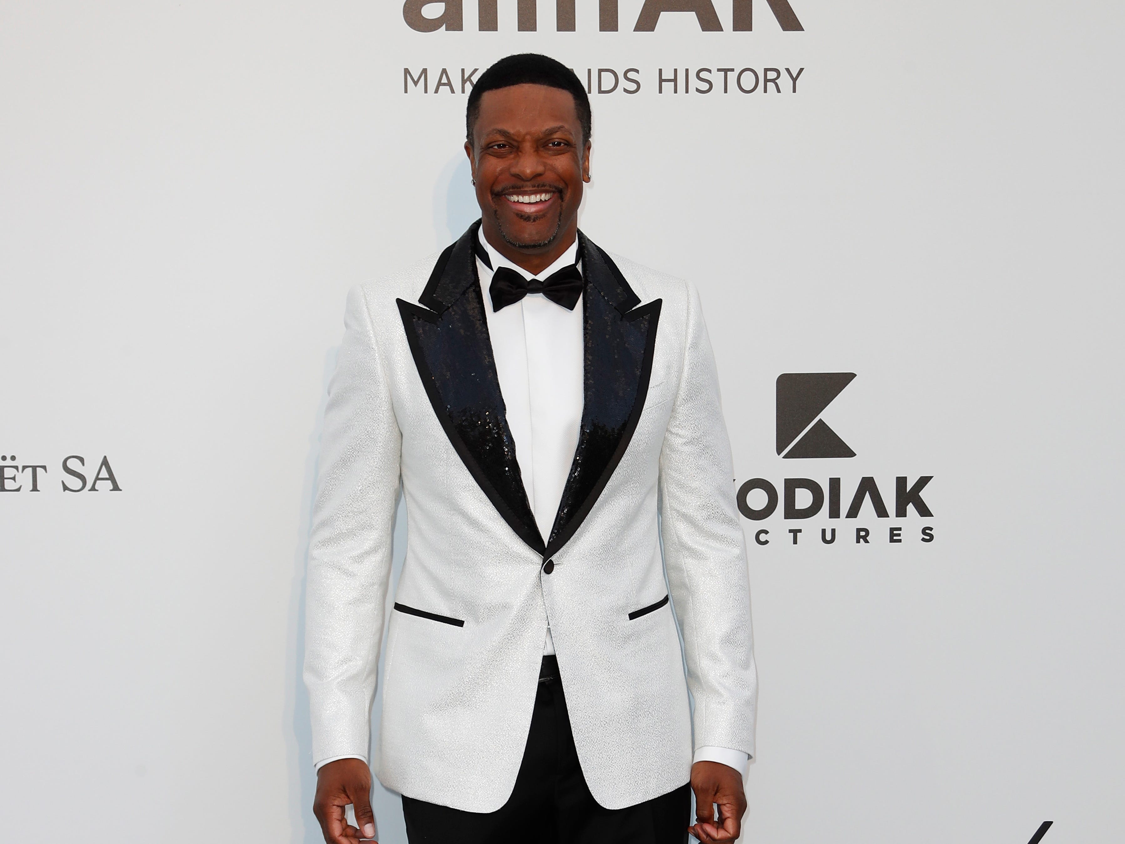 Actor Chris Tucker attends the Cinema Against AIDS amfAR gala 2019 held at the Hotel du Cap, Eden Roc in Cap d'Antibes, France on May 23, 2019.