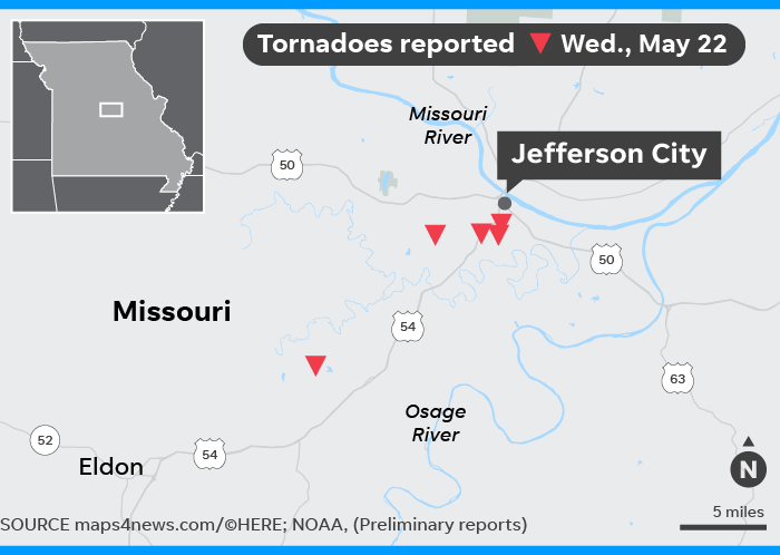 Jefferson City Tornado: Missouri severe weather in Joplin, Golden City