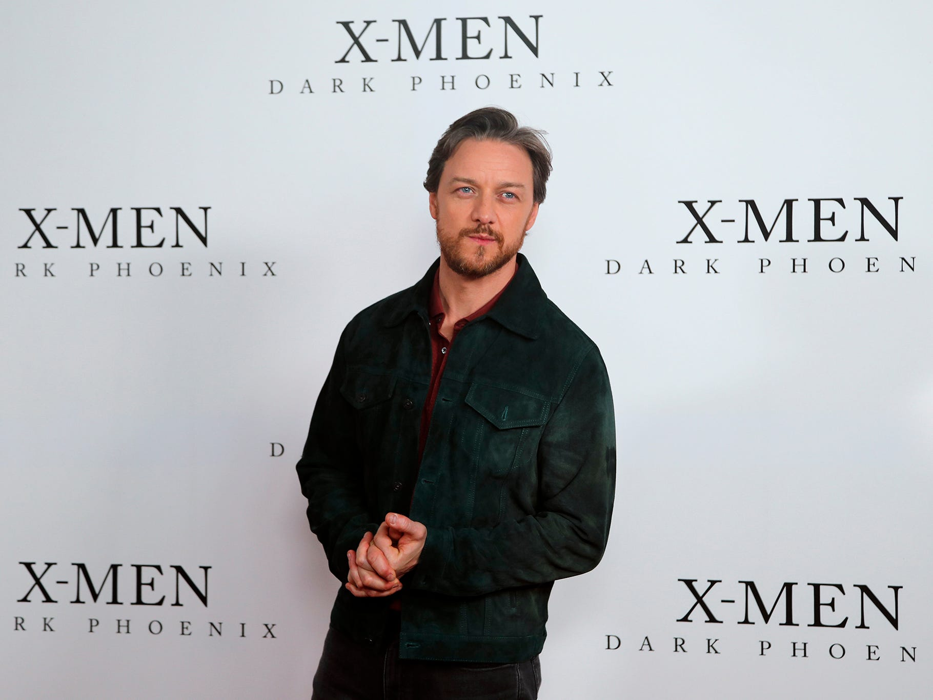 Actor James McAvoy poses as he arrives for an exclusive fan event of X-MEN: Dark Phoenix at a movie theater in London, Wednesday, May 22, 2019.
