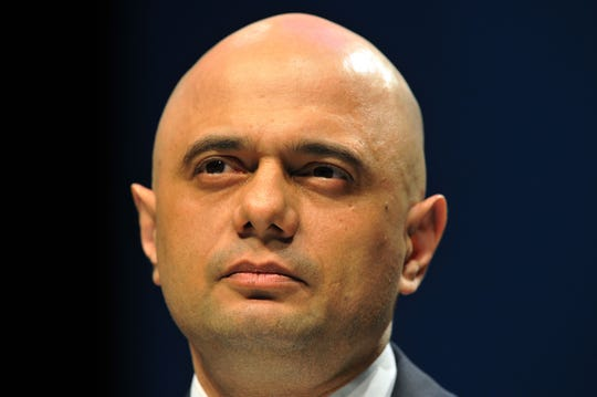 Britain's Home Secretary Sajid Javid addresses the Scottish Conservative party conference in Aberdeen on May 3, 2019.