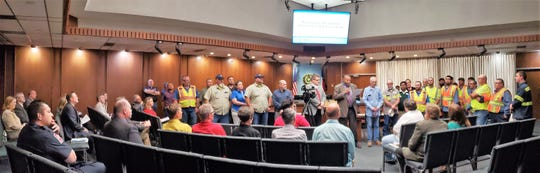 Mayor Anthony Williams and others lauded the city's Public Works department with a proclamation for National Public Works Week at Thursday's Abilene City Council meeting. In particular, the mayor, City Manager Robert Hanna and others praised workers for their diligence in the aftermath of the tornado that hit Saturday. Williams also read a proclamation for Flood Awareness Week.