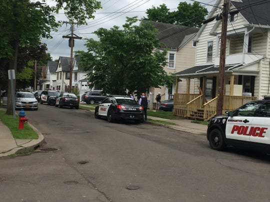 Binghamton police arrested a parolee after a domestic dispute Friday, May 24, 2019 on Cleveland Avenue.