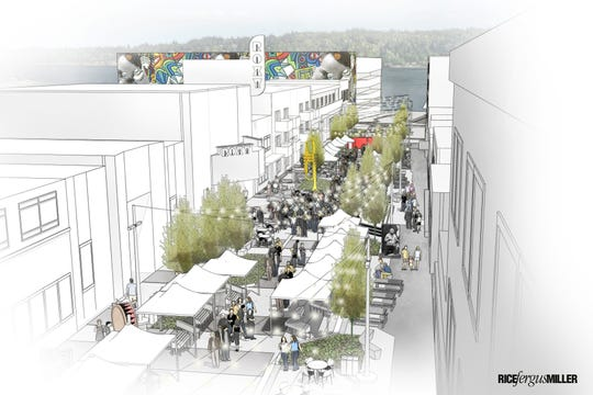Rendering of Quincy Square, proposed for Bremerton's Fourth Street.