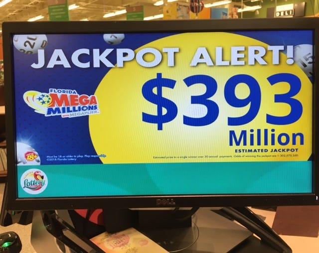 The Mega Millions jackpot closes in on the $400 million mark.