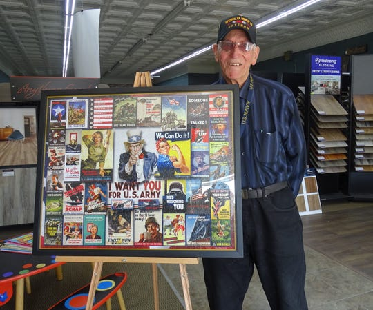 World War II veteran Richard Schmidt will be the grand marshal for this year's Memorial Day Parade. He recently completed a war-themed puzzle and has had it framed, so he can display it to remind people of the many contributions regular citizens made to the war effort.