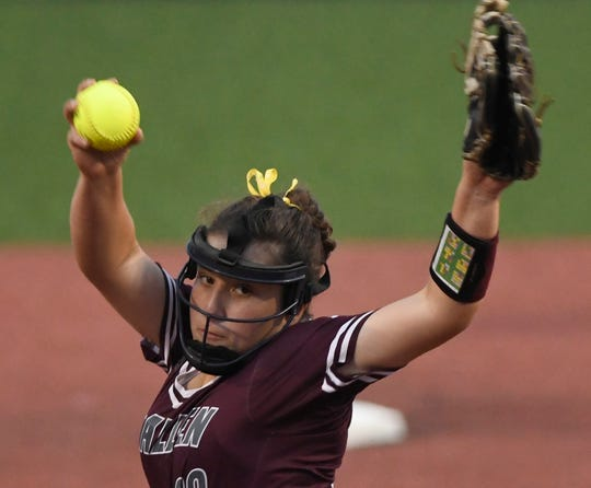 Calallen and Flour Bluff play their second game in the Class 5A regional final series, Thursday, May 23, 2019, at Cabaniss Softball Field.