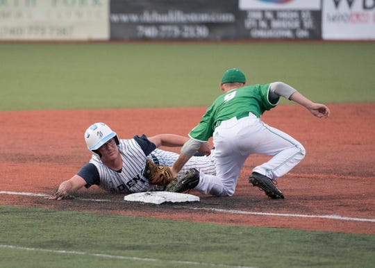 Adena baseball defeated Fairland 11-0 Thursday night in a Division III district semifinals game on Thursday, May 23, 2019, at the VA Memorial Stadium in Chillicothe, Ohio.