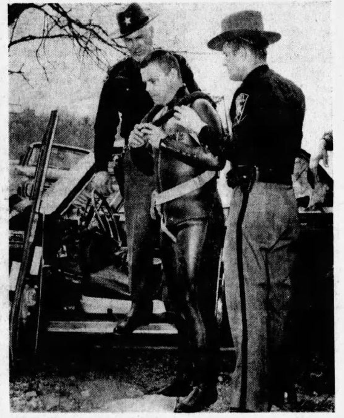 In 1964, Ross County Sheriff's Deputy Doug Ray put his scuba training to use to check out a car partially submerged in Paint Creek. The car, which was stolen, turned out to be empty and intentionally ran into the creek.
