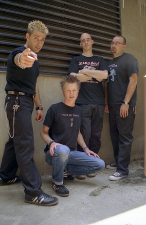 An early photo of the band Squirtgun