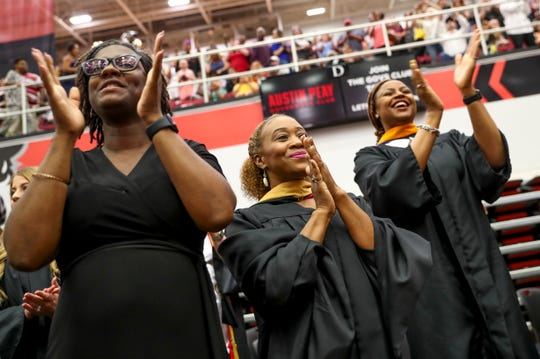 Hundreds of students from Kenwood High School walked the stage for their graduation ceremony May 23, 2019, at the Dunn Center in Clarksville, Tenn.