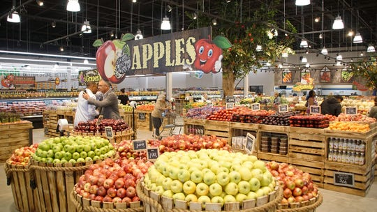 The produce section of the new SuperFresh store in Linden