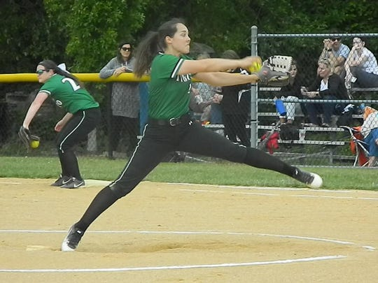 South Plainfield's Jillian Holoboski warms up during Thursday's sectional semifinals