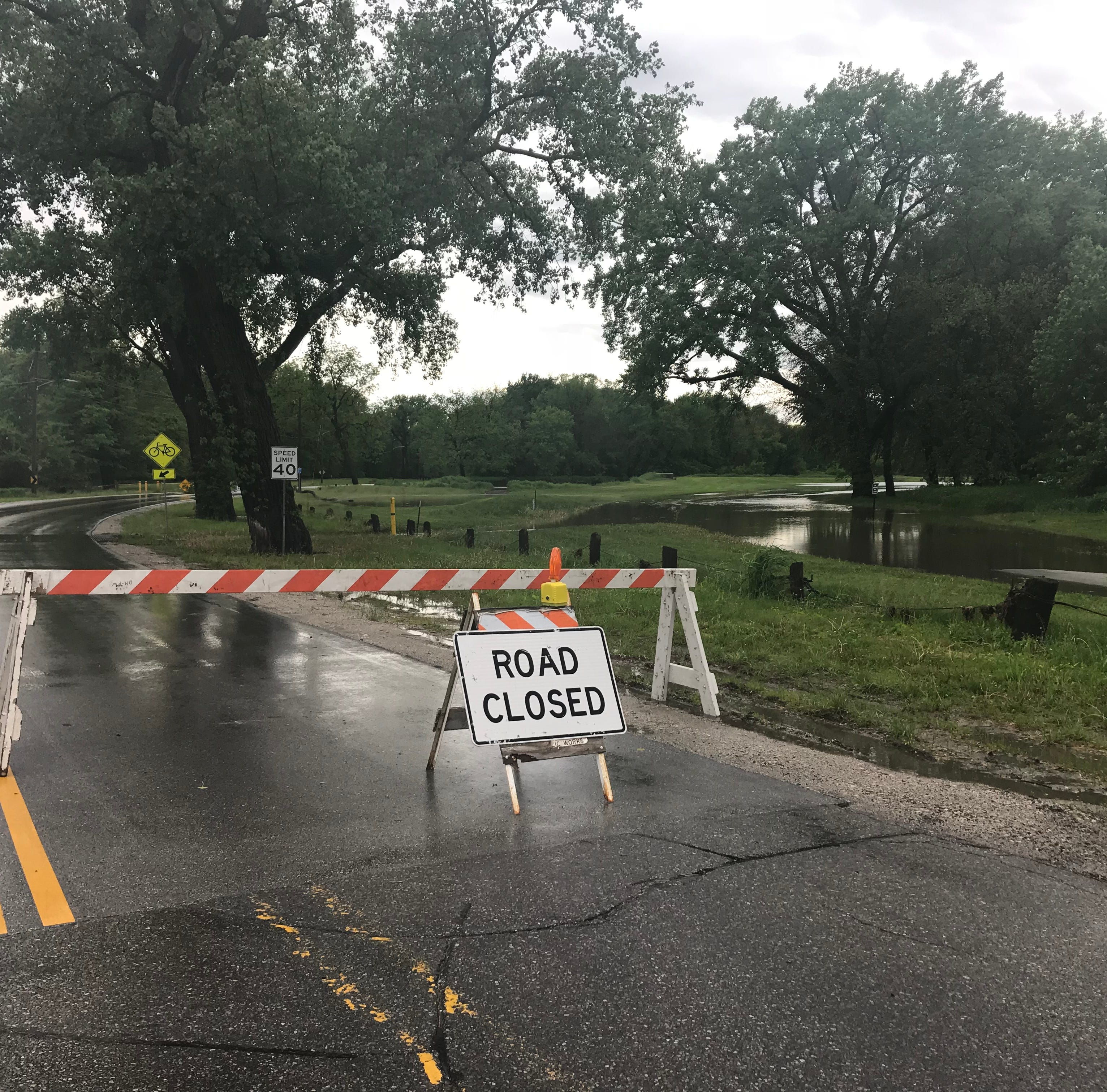 More storms on the way after morning rains cause flash flooding, close streets in Des Moines