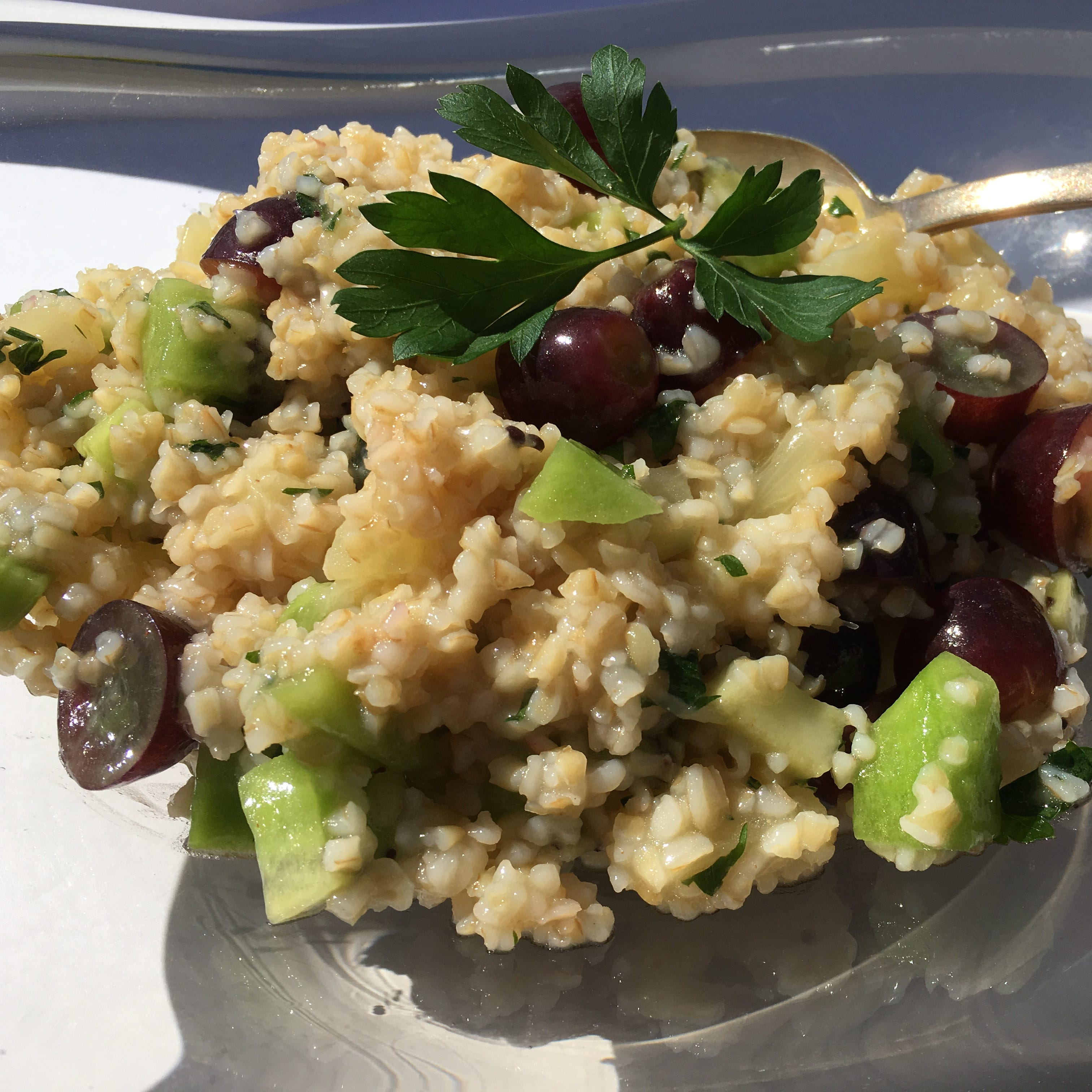 Fruity tabbouleh provides a healthy dose of fiber